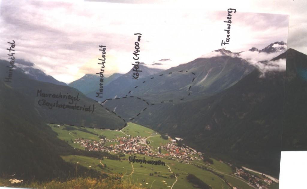 kofels landslide, geology