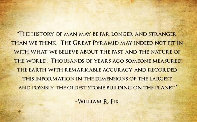 William R Fix, Quote, Great Pyramid