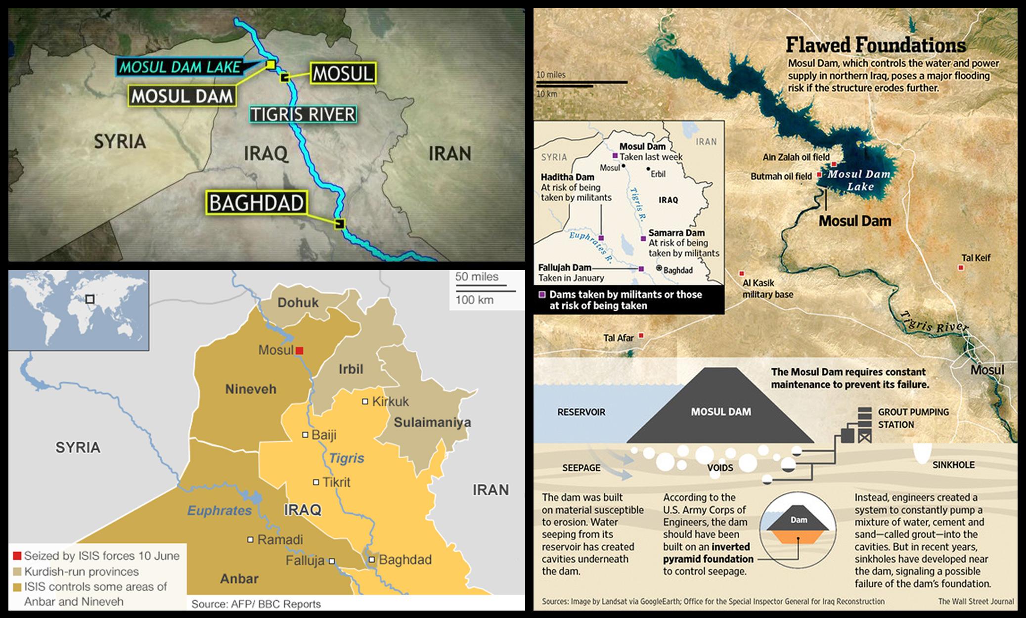 mosul dam, iraq, baghdad, isis, flood,